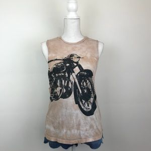 Truly Madly Deeply Motorcycle Tie Dye Graphic Tank